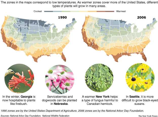New Hardiness Zone Map Reflects Warmer Climate Alliance For - Annual low temperatures us map