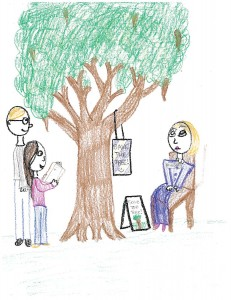 Drawing by third place winner Emma Y. Cho, 5th grade, Pleasant Hill Elementary School, Winfield, Illinois.