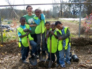 Tree planting with the kids