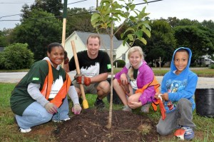TD Tree Days during National NeighborWoods Month with Trees Greenville, SC